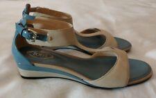 TOD'S Strap Leather Sandals Shoes Beige Size uk 3.5 eu 36.5