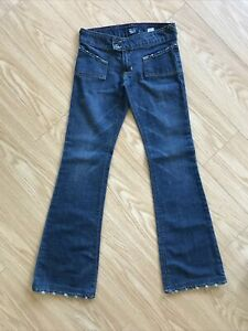 VON DUTCH Jeans Kustom FLARE LOW RISE Size 27 American Made 27x31