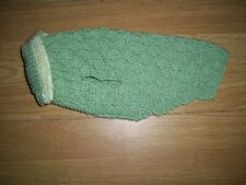 Brand new hand knitted textured green dog jumper/coat with collar. Size Small.