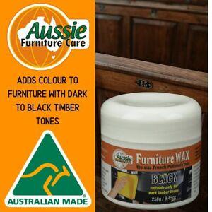 Aussie Furniture Care Beeswax Furniture Polish Black 250gr Paste Wax