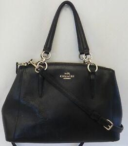 Coach Black Mini Christie Carry-All Purse F36704