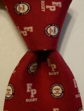 New listing VINEYARD VINES Custom Collection Men's Silk Necktie FP RUGBY Burgundy/White NWD