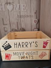 personalised movie night crate