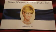 $5.00 Memorial Coin of Diana, Princess of Wales, 1961 - 1997 ,  FREE Shippingl