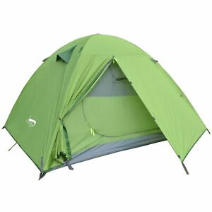 Backpacking Camping Tent Lightweight 1-3 Person Double Layer Waterproof Aluminum