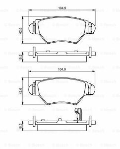 Bosch Rear Brake Pad Set 0986495250 - GENUINE - 5 YEAR WARRANTY