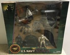 US Navy Seals Tour Water Craft & Attack Helicopter Play Set & Figurines Unopened