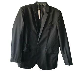 Black Single Button Blazer Men's Size Large