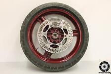 1987 Honda CBR 1000 F Front Wheel Rim W Tire Brake Rotors Red 1000f 87