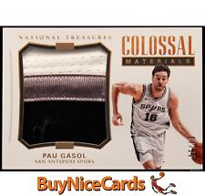 17-18 Pau Gasol Panini National Treasures Colossal Materials Game Worn Patch /25