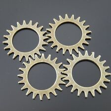 Unbranded Bronze Mechanical Clock Gear Steampunk Charm Jewelry Pendant 22mm 50pc
