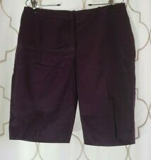 H&M Size 10 Wine Red Purple Shorts Bermuda Womens Cotton Blend Pocketed Khaki