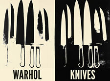 Andy Warhol - Knives, c.1981-82 (cream & black) Pop Art Print Poster 22x30