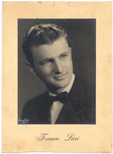 Ritratto di F. Lari Cantante? Foto originale alla gelatina d'argento 1950c XL354