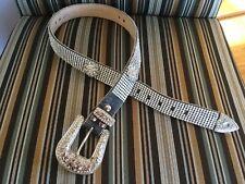 Rhinestone Cowboy Belt, New, Bling Belt, Black With Crystals Everywhere!