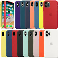 Original Silicone Genuine Case Cover For iPhone 6 6S 7 8 Plus XR XS X 11 Pro Max