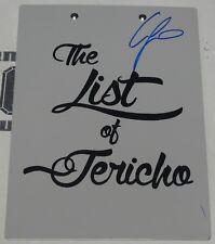 Chris Jericho Signed Official WWE Clipboard BAS Beckett COA Autograph List of