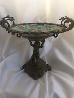 Antique French Gilt Bronze Mounted Porcelain Celadon Dish