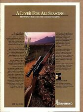 1982 BROWNING BLR 22-250 Lever Action RIFLE AD Collectible Advertising