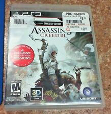 Assasin's Creed III - PlayStaion 3 - Gamestop Edition- Tested