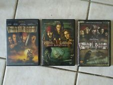 Pirates of the Caribbean Movies Complete Set: 1, 2, 3 Dvds