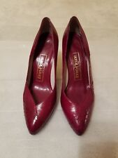 Evan-Picone burgundy leather shoes 6.5 M made in Spain