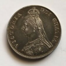 1887 VICTORIAN DOUBLE FLORIN COIN. SOLID SILVER, NICE CONDITION. Ref.17