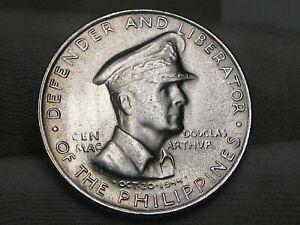 BU 1947-s Silver 50¢ Centavos Philippines Gen D MacArthur White!  #22