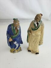 Pair of nice chinese pottery figurines, signs of aging