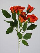 """Rose Rosenzweig """"Newport"""" grün/orange/gelb 40cm Kunstblumen Rosen Dekoration"""