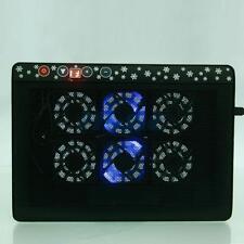 LED USB 6 Fan Speed Adjust Cooling Cooler Pad Stand for 12