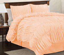 Scala bedding Gathered Ruffle 5pc Duvet Cover Set 800TC Egyptian Cotton All Size