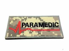 Paramedic ACU Camo Embroidered Airsoft Paintball Patch