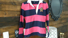 Tommy Hilfiger Oxford Shirt XS womans navy pink striped good condition