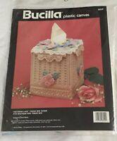 Bucilla Victorian Lace Boutique Size Tissue Box Cover Plastic Canvas Kit 6054