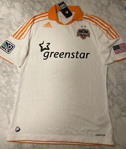 Houston Dynamo adidas authentic jersey 2011-12 away white size Large NEW NWT MLS