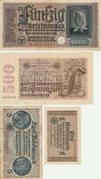Vintage Group Lot of 4 Different World Banknotes GERMANY Germany US Seller
