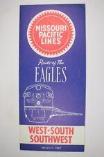 Railroad Public Timetable Missouri Pacific MP MOPAC January 1, 1967 Train RR PTT