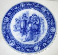 Wedgwood Ivanhoe Flow Blue Dinner Plate Ivanhoe and Rowena