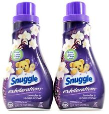 2 Snuggle Exhilarations Lavender& Vanilla Orchid Fabric Conditioner 32oz Bottles