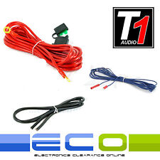 10 AWG 800 Watt Car Amplifier Amp Sub 10 Gauge Power Earth & Remote Wiring Kit