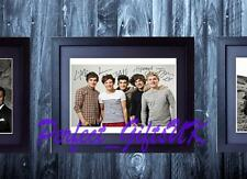 ONE DIRECTION SIGNED MOUNTED & FRAMED 10X8 REPRO PHOTO PRINT