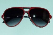 Foster Grant Womens Solar Accents Red Acrylic Aviator Sunglasses # 2
