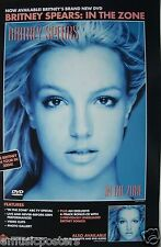 "BRITNEY SPEARS ""IN THE ZONE & 2004 TOUR"" U.S. PROMO POSTER -Brit's Blowing Hair"