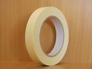 BBK-K80 / 48 x Abdeckband 19 mm x 50m Lackiererband Kreppband Abklebeband 80°C