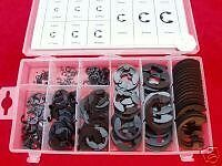 Toolzone 300Pc Snap Ring E-Clips in Plastic Storage Case