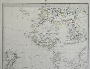 Africa Unexplored Regions Donga Mts. of Moon c.1840 SDUK detailed antique map