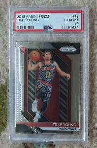 Trae Young Rookie RC -- 2018 Panini Prizm #78 -- PSA 10