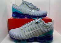 Nike Air Vapormax FlyKnit 3 GS Platinum/Aqua BQ5238-008 5Y/Women's 6.5 NO LID