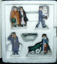 Dept 56 Christmas in the City Village Accessory Busy Sidewalks 4 Piece Set 55352